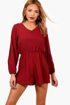 5496adf6fa Long sleeve playsuit with split sleeve. Livia Moser · Jumpsuits   Rompers