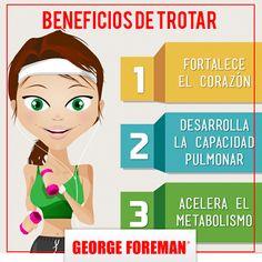 Trotar es una actividad que le beneficia a nuestro cuerpo. Mira algunos de los pros que le deja. :)