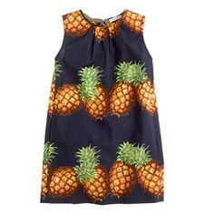 Girls' shift dress in Ratti pineapple - everyday dresses - Girl's new arrivals - J.Crew