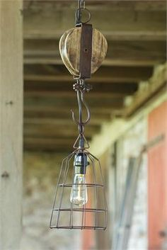 Basket Light - Pulley | The Old Tin Shed