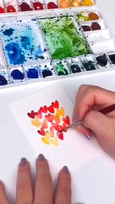 Happy Valentine's Day loves! In this tutorial, we will be painting 3 quick DIY Valentine's Day Cards together! —————— Tools used in this video: Princeton Vel. Watercolor Paintings For Beginners, Watercolour Tutorials, Watercolor Techniques, Valentines Watercolor, Watercolor Cards, Simple Watercolor, Tattoo Watercolor, Watercolor Trees, Watercolor Animals