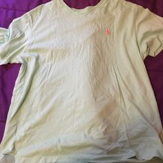 Polo V-neck Tshirt It's a pretty teal color but great condition Polo by Ralph Lauren Tops Tees - Short Sleeve