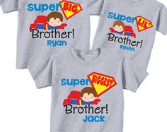 Personalized Big Brother Shirts and Matching por TheCuteTee en Etsy