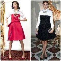 Olivia Palermo Strapless Dress Shirt