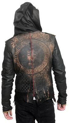 Deluxe Leather Hooded Jacket (by Junker Designs) – Yeah. I, seriously, want this jacket.