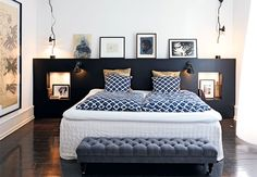 The Nordroom - Creative Headboard and Bedroom Styling Ideas (photography by Pia Enghild) Attic Rooms, Attic Spaces, Attic Apartment, Attic Bathroom, Attic Playroom, Bathroom Marble, Dream Bedroom, Bedroom Wall, Bedroom Decor