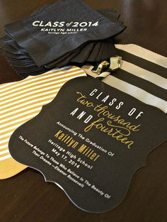2014 Black And Gold Graduation Party- B. Lovely Events