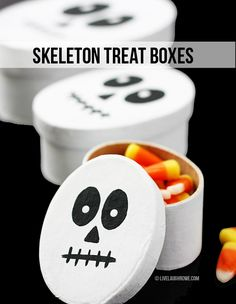 Halloween Skeleton Treat Boxes by Live Laugh Rowe