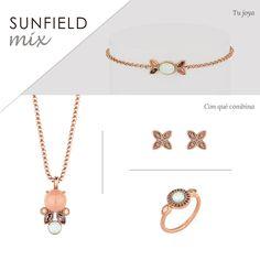 #Pulsera, #colgante, #pendientes y #anillo #Joyas #Sunfield