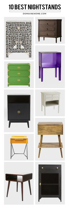 Top 10: Bedside Tables for Every Style // nightstands, bedroom