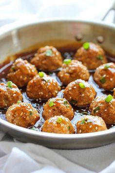 Asian Turkey-Quinoa Meatballs