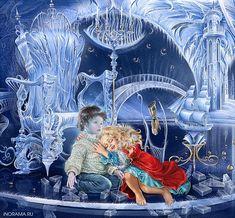 Художник Инна Кузубова. Сказочные иллюстрации.: tiina Pictures To Paint, Print Pictures, Vintage Children Photos, Snow Maiden, Fable, Queen Art, Vintage Fairies, Winter Art, Snow Queen