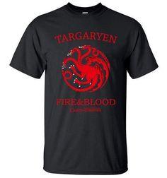 Game of Thrones Targaryen Dragon Fire & Blood Men's T Shirts 100% Cotton High Quality T-Shirt