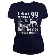 Miniature Bull Terrier dog T Shirts, Hoodies. Get it now ==► https://www.sunfrog.com/LifeStyle/Miniature-Bull-Terrier-dog-Navy-Blue-Ladies.html?57074 $23
