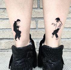 proposta di tatuaggio da realizzare in coppia per gli amanti della danza