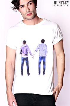 American Eagle PRINTED CHEST STRIPE - T-shirt med print - purple