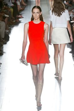 Victoria Beckam S/S 2013. Beautiful red dress.