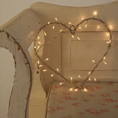 Fairy Light Heart Wreath by Lights4fun