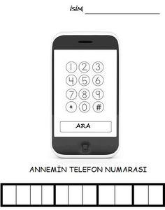 Anne Baba Telefon Numarasi Oğrenme Yöntemi Telefon Boyama