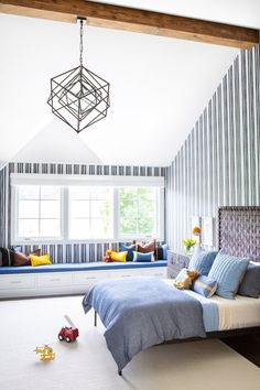 Amenia Farmhouse by Chango & Co. Comprehensive architectural advisement, interior design & custom furniture design by Chango & Co. Photography by Sarah Elliott. Farmhouse Design, Country Farmhouse, Kids Bedroom, Bedroom Decor, Kids Rooms, Playroom Decor, Bedroom Ideas, Blue Bedroom, Design Bedroom