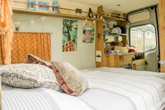 Such a cosy van! Hire Gwithian from Redruth, Cornwall  www.quirkycampers.co.uk