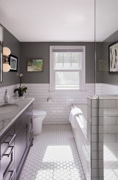 34 Guest Bathroom Makeover Ideas You Must Have Guest Bathroom Ideas Impressive Brilliant however develop into the trickiest thing once it comes to implementation. Designing a gorgeous and […] Guest Bathrooms, Master Bathroom, Mint Bathroom, 1920s Bathroom, Bathroom Mirrors, Bathroom Cabinets, Tile On Bathroom Wall, Bathroom Ideas White, Hexagon Tile Bathroom Floor