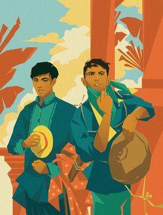 Jap MKL Filipino Art, Filipino Culture, History Icon, Wave Illustration, Philippine Art, Character Design Inspiration, Aesthetic Anime, Traditional Art, Art Inspo