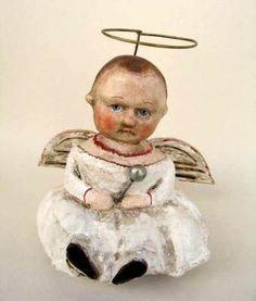 "Victorian Trading Company.  Debbee Thibault ""Baby Christmas Angel"".  4"" $239.98."