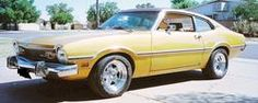 1973 Ford Maverick, I had a 73 Maverick, Grabber Yellow, with a straight six, 4-speed column shifter that my dad converted to a floor shifter. I loved that car, but would have loved it even more if I had put a V8 in it.