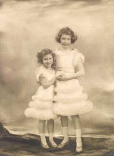 Royal Sisters...Princess Elizabeth (right) and Princess Margaret (left) 1939.