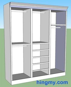 Building a built-in Closet or storage cabinet or pantry interactive designer to customize and print plans and materials list!  Genius
