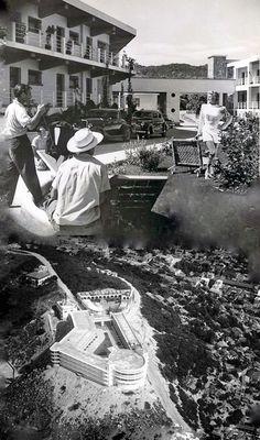 Escenas de la película La dama de Shanghai en el hotel Casablanca  Acapulco 1946