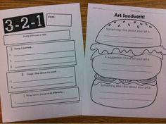 Knight's Smartest Artists: Inspiration to Fruition. 2 fun and simple critique sheets and Art Sandwich Middle School Art, Art School, School Ideas, School Daze, Art Rubric, Rubrics, Art Critique, Art Handouts, Art Criticism