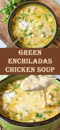 Green Enchiladas Chicken Soup