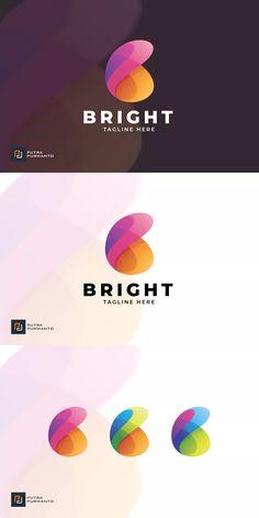 Bright - Logo Template by putra_purwanto on Envato Elements Creative Logo, Logo Design Inspiration, Icon Design, Logo Design Services, Branding Design, Silhouette Logo, Design Boutique, Butterfly Logo, Water Logo