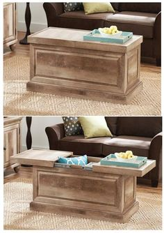 mexican pine chest / coffee table - large chest / coffee table