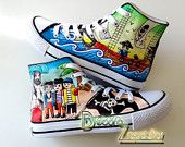 Playmobil pirates custom canvas shoes handmade! Get your exclusive pair!