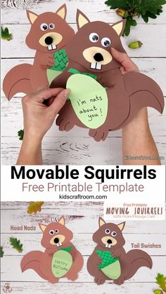 This free printable Squirrel Hat Craft is adorable! Print the template to make your own cute paper squirrel headbands. Such a fun Autumn craft for kids. #kidscraftroom #squirrels #squirrelcrafts #kidscrafts #papercrafts #Autumncrafts #Fallcrafts #printables #freeprintables #woodlandanimals #squirrel #printablecrafts