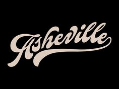 Asheville by Santi Jaramillo for Airtype on Dribbble Types Of Lettering, Script Lettering, Typography Letters, Lettering Design, Calligraphy, Beautiful Lettering, Fashion Logo Design, Photography Logo Design, Typographic Logo