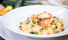 Home & Family - Recipes - Creamy Zucchini & Scallop Risotto | Hallmark Channel