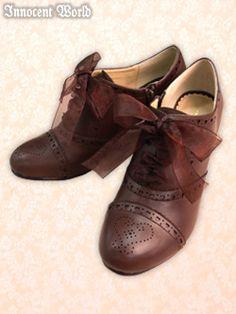 Organdy Ribbon Shoes - Innocent World Sock Shoes, Shoe Boots, Cute Fashion, Fashion Shoes, Ribbon Shoes, Lolita Shoes, Arab Women, Japanese Street Fashion, Bow Sneakers