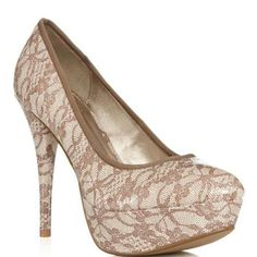 JustFab  Gia  Taupe Heels