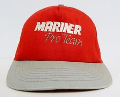 80s Mariner Pro Team Outboard Boat Motor Snap Back by BeyondLeaf @ebay @etsy #mariner #marines #mercury #ebay #etsy #share #buy #snapback #ballcap #vintage #90s