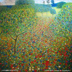 Champ de coquelicots, Klimt                                                                                                                                                                                 Plus