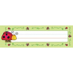 D.J. Inkers Ladybugs Nameplates | Quill.com
