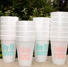 Gender Reveal Party Cups - Great for baby gender reveal showers!!