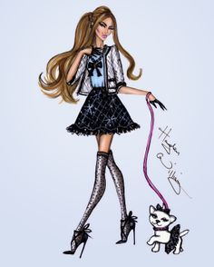 #Hayden Williams Fashion Illustrations #Pampered Pets by Hayden Williams: 'Strut in Style'