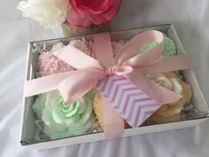 Rose and Heart Soap Gift Set  Mothers Day by SeasideSoapKitchen
