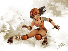 Roller derby girl by Gianpierre on DeviantArt