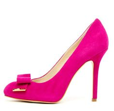 Michael Kors pink suede court shoes